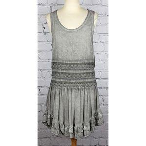Altar'd State Sunflower Girl Crochet Trim Dress S
